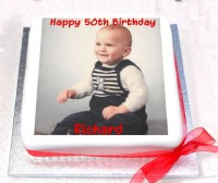 50th Birthday Cake with Photo