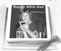 60th Birthday Cake with Photo