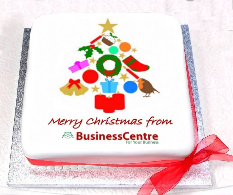 Christmas Logo Cake Tree Design