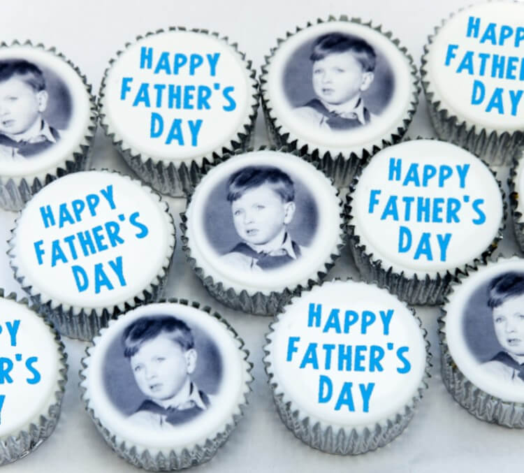 Fathers Day Photo and Message Cupcakes