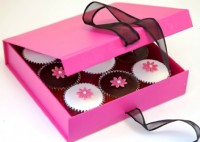 Flower Cupcakes Gift Box