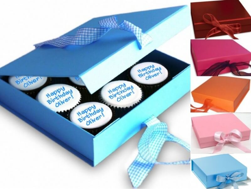 Gift Boxed Message Cupcakes