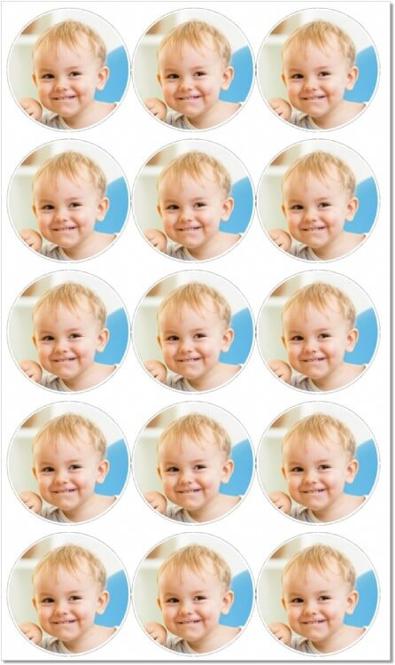 Mini Cupcake Photo Toppers