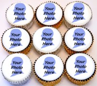 Good Luck Photo Cupcakes