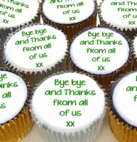 Personalised Teacher Cupcakes