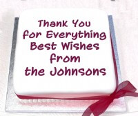 A Thank You Message Cake
