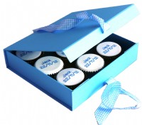 New Baby Boy Cupcakes Gift Box