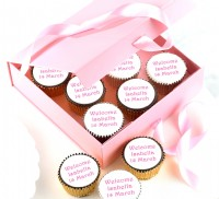 New Baby Girl Cupcakes Gift Box