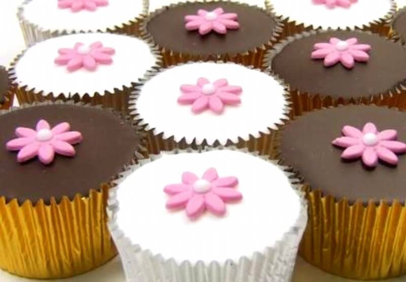 Box of Flower Cupcakes