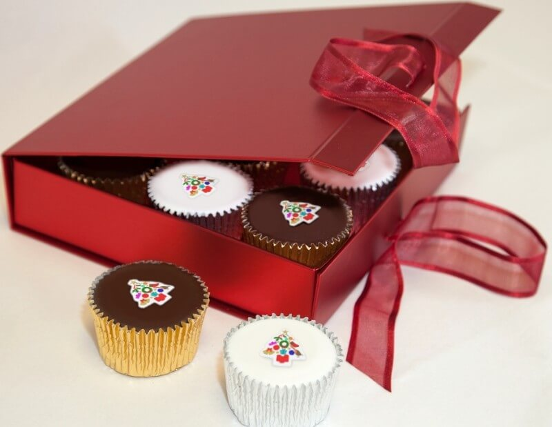 Gift Boxed Christmas Cupcakes