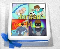 Comic Hero Birthday Cake