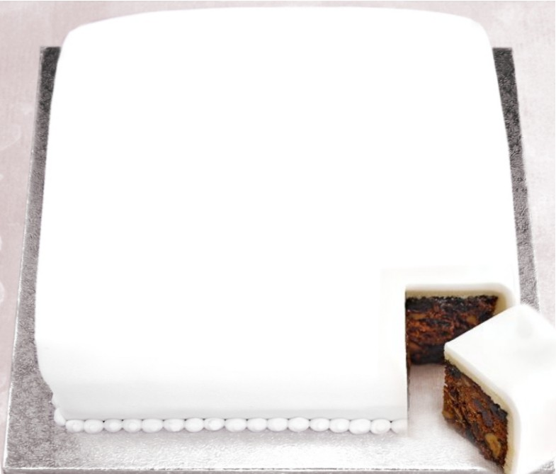 UNDECORATED Iced Fruit Christmas Cake