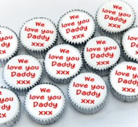 Fathers Day Personalised Cupcakes