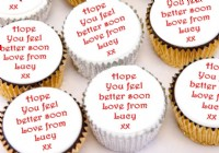 Cupcakes saying Get Well Soon