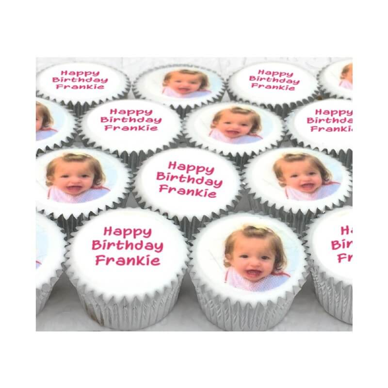 Mini Photo Message Cupcakes (boxes of 25)