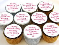Personalised Mothers Day Cupcakes
