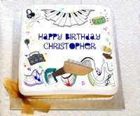 Musical Theme Birthday Cake