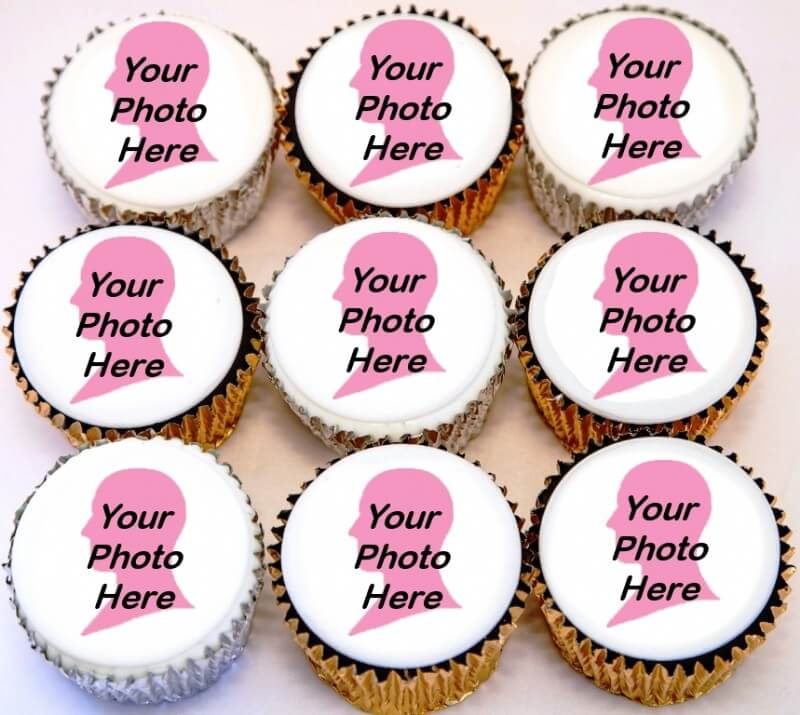 Get Well Soon Photo Cupcakes