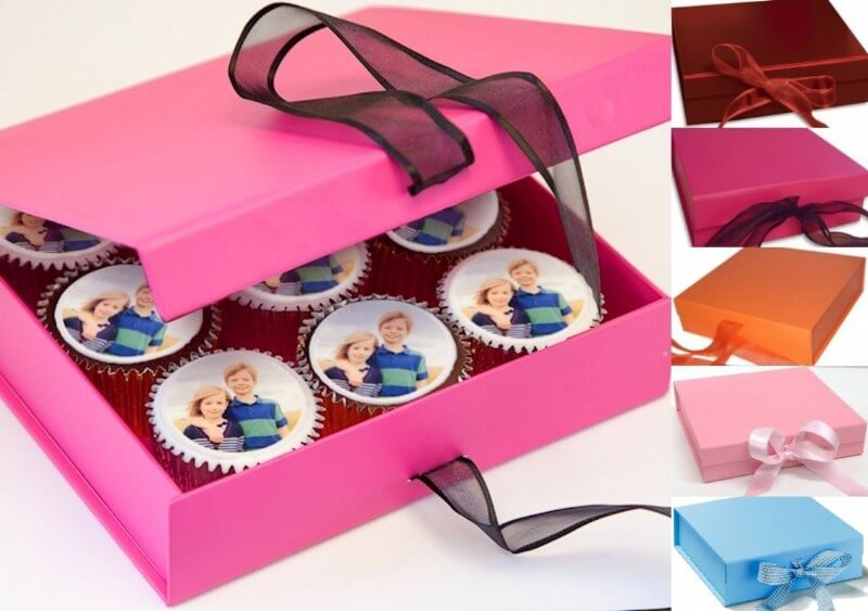 Gift Boxed Photo Cupcakes