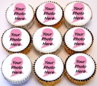 I Love You Photo Cupcakes