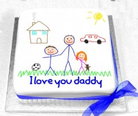 Childs Drawing Picture Cake