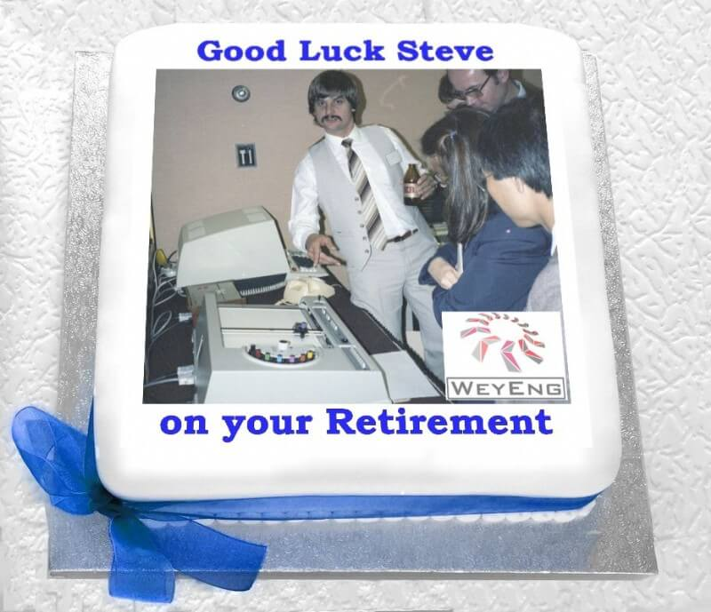 Retirement photo logo cake