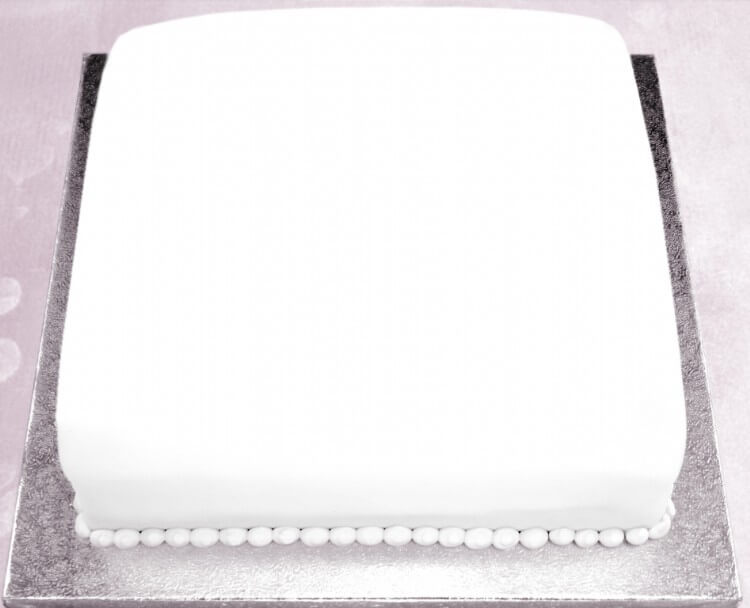 Iced Sponge Cake - Square 8 or 10 inch